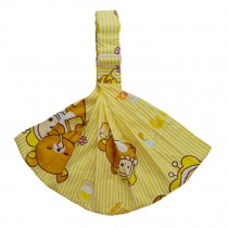 100% Cotton Newborn Baby Carrier Multifunction Straps Simple Sling Yellow Bear