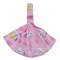 100% Cotton Newborn Baby Carrier Multifunction Straps Simple Sling Dog Pink