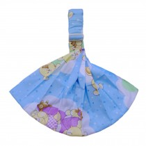 100% Cotton Newborn Baby Carrier Multifunction Straps Simple Sling Bear Blue