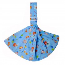 100% Cotton Newborn Baby Carrier Multifunction Straps Simple Sling Blue Bear