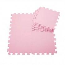 Quality Waterproof Baby Foam Playmat Set-9pc /Pink