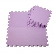 Quality Waterproof Baby Foam Playmat Set-9pc /Purple