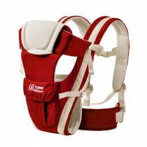 Soft Polyester Baby Carrier Best Baby Backpack Cotton belt Purplish Red