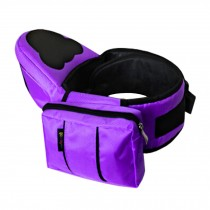 Multifunctional Baby Carrier Kid Hip Seat Carrier/Backpack With Waist Bag Purple