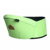Baby Carrier Single Waist Stool Hip Seat Carrier,Pure Cotton Baby Carrier Green