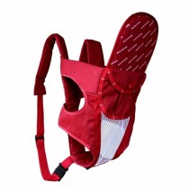 Multifunctional Cotton Baby Carriers Backpack,Household & Travel Letter Red
