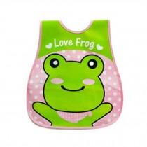 Baby Bib Best Home/Travel Bib Lovely Cartoon Design Soft,Waterproof Green Frog