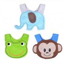 Set of 3 Baby Bib Infant Saliva Towel Cotton Soft,Waterproof Baby Pinafore NO.02