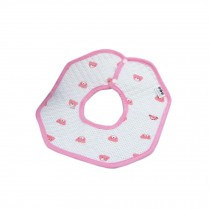 Lovely Cotton 360??Rotated Waterproof Buckle Baby Bib Saliva Towel #