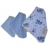 Lovely Feeding Bandana Bibs for Babies and Toddlers Set of 3(monkey and star)