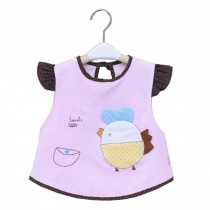 Lovely Chick Waterproof Baby Feeding Clothes  Saliva Towel Baby Bibs, Purple