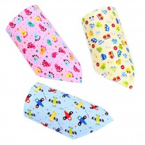 Set Of 3 Baby Cute Bandana Drool Bibs Unisex Cotton ( NO: 5 . 6 . 7 )