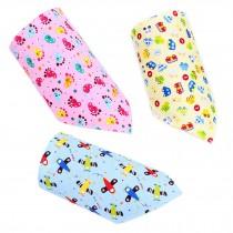 Set Of 3 Baby Cute Bandana Drool Bibs Unisex Cotton ( NO: 5 . 6 . 7 )