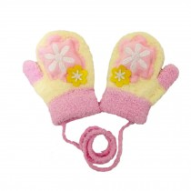 Durable Lovely Flower Warm Gloves Useful Winter Baby Mittens 3-24 Months
