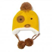 Fashion Cute Dog Design Baby Infant Knit Crochet Winter Warm Cap Hat YELLOW