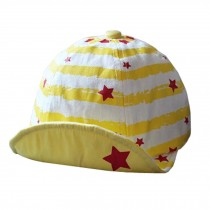 Baby's Summer Outdoor Baseball Cap Star Soft Brim Sun Protection Hat,Yellow