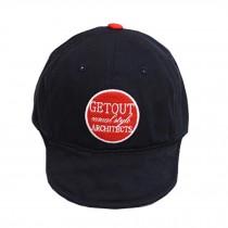 Baby's Summer Outdoor Baseball Cap Round Soft Brim Sun Protection Hat,Dark Blue