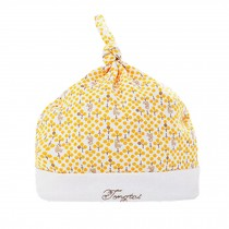Fashion and Lovely Organic Cotton Soft Babies Hats Sleep Cap  Infant Cap, Yellow