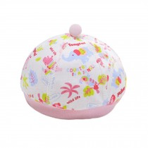 Boneless Stitching Organic Cotton Soft Babies Hats Sleep Cap  Infant Cap, Pink
