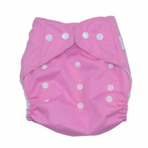 Summer Grid Baby Cloth Diaper Cover Adjustable Size Pink