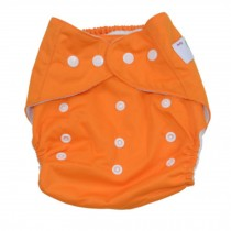 Summer Grid Baby Cloth Diaper Cover Adjustable Size Orange
