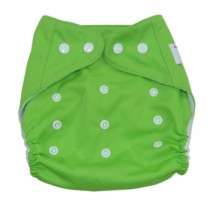 Summer Grid Baby Cloth Diaper Cover Adjustable Size Green
