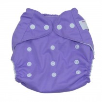 Summer Grid Baby Cloth Diaper Cover Adjustable Size Purple