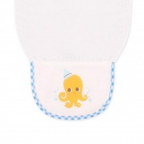 Cute Cartoon Baby Sweat Absorbent Towel Perspiration Wipes Towel ,Octopus