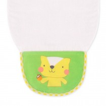 Cute Cartoon Baby Sweat Absorbent Towel Perspiration Wipes Towel,Cat