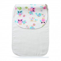 Cute Cartoon Baby Sweat Absorbent Towel Perspiration Wipes Towel,Owl
