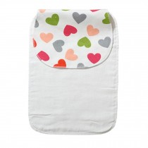 Cute Cartoon Baby Sweat Absorbent Towel Perspiration Wipes Towel,Heart