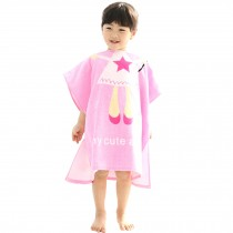 Childrens Cute And Fashion Style Hooded Bath Towel Bathrobes Angel Pink