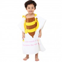 Childrens Cute And Fashion Style Hooded Bath Towel Bathrobes Bee