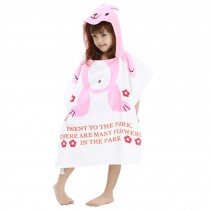 Childrens Cute And Fashion Style Hooded Bath Towel Bathrobes Rabbit