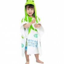 Childrens Cute And Fashion Style Hooded Bath Towel Bathrobes Frog