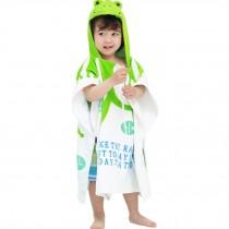 Childrens Cute And Fashion Style Hooded Bath Towel Bathrobes Frog