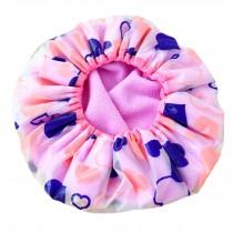 Reusable Shower Cap Double Layer Waterproof Spa Bathing Cap Cooking Hat, Purple