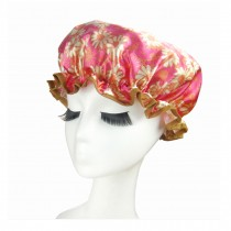 Quality Thickening Shower Cap Double Layers Waterproof Bath Cap Sunflower, Rose