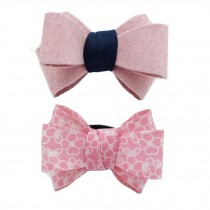 Girl/Women Big Bowknot Hair Ring Hair Rope Rubber Band,Pink
