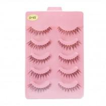 5 Pairs Handmade Natural Soft False Eyelashes Fake Eye Lash, High Quality