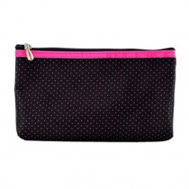 Mini Portable Travel Cosmetic Bag Makeup Pouches Small Dot,Black