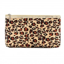 Mini Stripe Portable Travel Cosmetic Bag Makeup Pouches,Leopard Grain