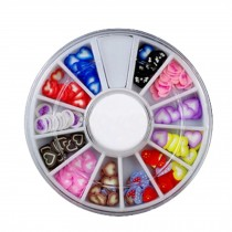 3D Design Nail Art Different DIY Nail Art Stud Wheel Manicure, D