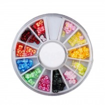 3D Design Nail Art Different DIY Nail Art Stud Wheel Manicure, E