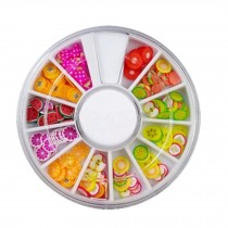 3D Design Nail Art Different DIY Nail Art Stud Wheel Manicure, H