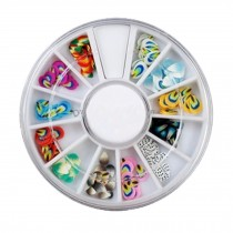 3D Design Nail Art Different DIY Nail Art Stud Wheel Manicure, I