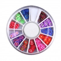 3D Design Nail Art Different DIY Nail Art Stud Wheel Manicure, J