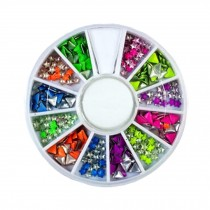 3D Design Nail Art Different DIY Nail Art Diamond Stud Wheel Manicure, N