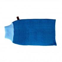 Exfoliating Back Scrubber Foamy Bath Sponge Bath Towel Deep Blue
