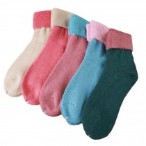 Set of 5 Pairs Women Autumn/Winter Thicken Warm Cute Cotton Socks Y